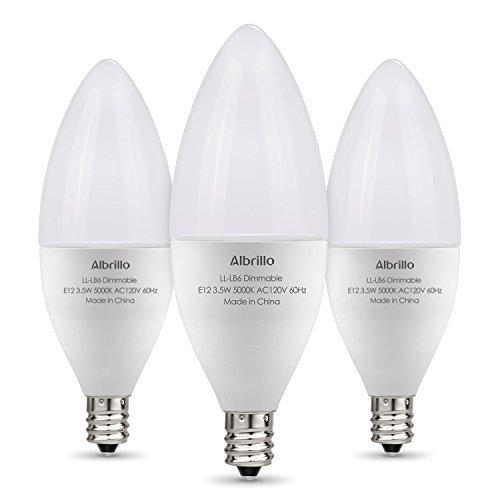 可调光 白色节能日光灯泡 3个