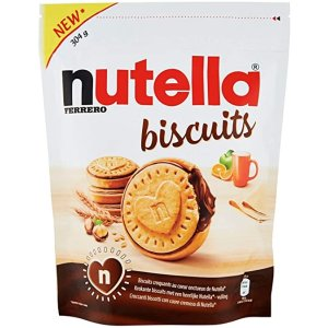 含榛子/可可奶油 首单8折! Nutella 夹心饼干 304g
