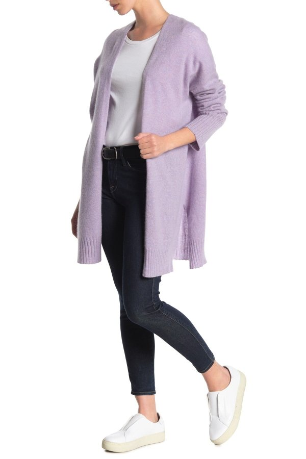 香芋紫长款开衫