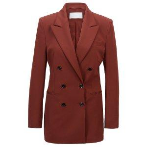 Hugo BossDouble-breasted regular-fit jacket in Italian stretch wool
