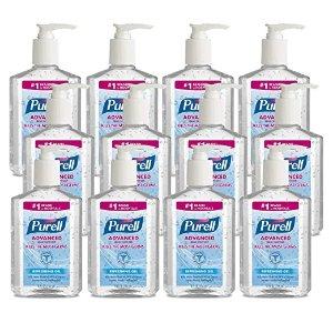 Purell免洗洗手凝胶 8 fl oz 12瓶装