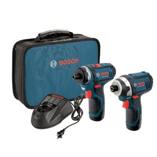 $99Bosch CLPK27-120 12伏无绳电钻+冲击起子+双电及充电器