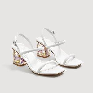 售价£69.99+免邮上新:Mango 仙女中跟一字带凉鞋热卖