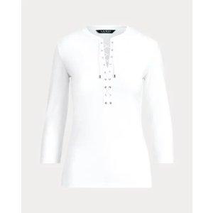 Ralph LaurenLace-Up Cotton Top