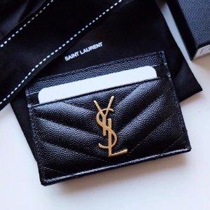 3折起 BV经典卡包$299SSENSE 钱包卡包好价升级 YSL黑金鱼子酱信封钱包补货