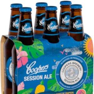$64.99/24瓶 (原$4.49/瓶)Coopers 蓝标啤酒375mL整提好价 变相6折