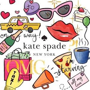 低至3.8折+最高额外6折折扣升级:Kate Spade 童装新款上架立享折上折  萌趣可人