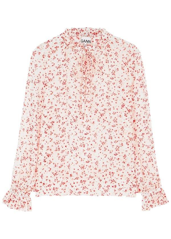 小碎花衬衫