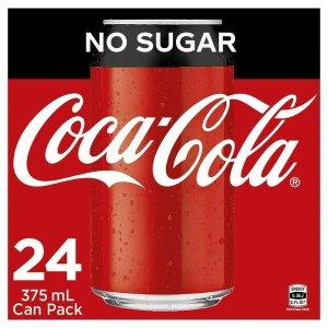 $18 (原价$31.8)Coca-Cola 24瓶X375ml装 无糖版