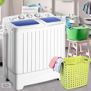 Costway EP23635 Mini Compact Twin Tub 17.6lb Washing Machine @ Sears.com