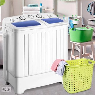 Costway EP23635 Mini Compact Twin Tub 17.6lb Washing Machine @ Sears.com
