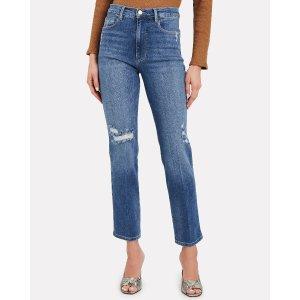 FRAMELe Sylvie Slender Straight-Leg Jeans