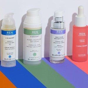 低至5.6折 €21收抗红血丝精华REN Clean Skincare 精选护肤大促 敏感皮的药盒子