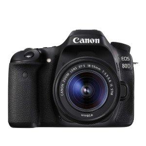 $998(原价$1499.99)Canon EOS 80D+18-55mm 单反套机