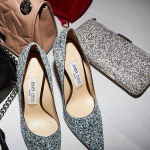 一律8折 £380收亮片平底鞋折扣升级:Jimmy Choo 美鞋闪促 收经典Romy、Love系列