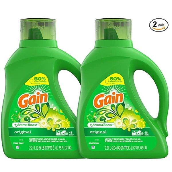 高效洗衣液 75oz 2瓶
