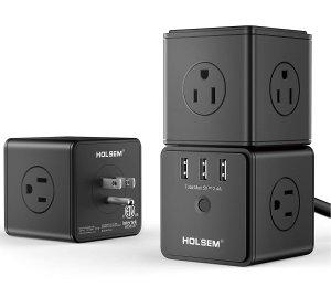 $29.89HOLSEM Smart Cubic Surge Protector 14 AC outlets
