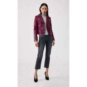 Mackageclassic leather and suede moto jacket