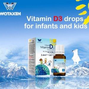 $14.94 助力钙的吸收WOTAXEN  Vitamin D3 宝宝/儿童滴剂400IU 3.6ml