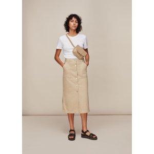 WhistlesStone Utility Denim Skirt | WHISTLES | Whistles