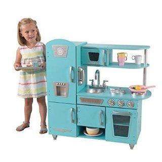 $91.98(原价$146.93)KidKraft 儿童木质玩具小厨房,梦幻蓝色