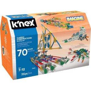 $19.99K'NEX Imagine 经典搭建拼插玩具705片,无线创意在其中