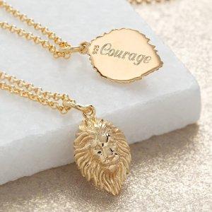 Lily charmed狮头项链
