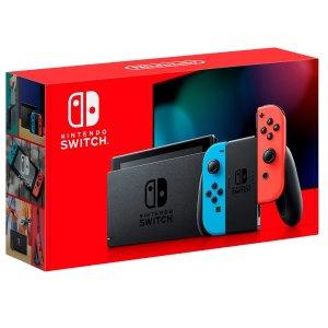 $299.99 包邮补货:Nintendo Switch 全新续航增强版 32GB