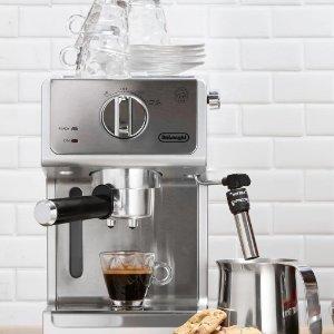 $199.95 (原价$249.95)Delonghi 德龙ECP3630 泵压不锈钢意式咖啡机8折