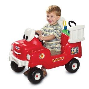 $45Little Tikes 幼儿骑行消防车,附带水箱可洒水