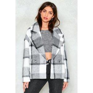 Nasty Gal格子外套