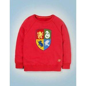 BodenHogwarts Crest Sweatshirt - Rockabilly Red | Boden US