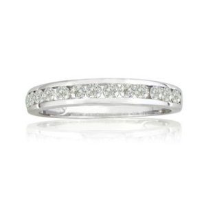 SuperJeweler1/4ct Channel Set Diamond Band in White Gold