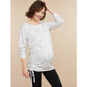 Motherhood MaternityDrop Shoulder Tie Detail Maternity Top