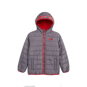 560681139 Nordstrom offers up to 25% off Under Armour Kids Sale. Free shipping on  orders over $100. Under ArmourPronto Water Repellent Hooded Puffer Jacket