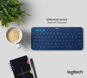 $29.99高颜值键盘: Logitech K380 蓝牙键盘 蓝色/黑色可选