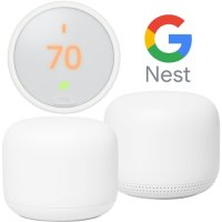 Google Nest Wifi Router and Point + Learning Thermostat