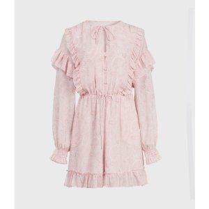 樱花粉连体裤