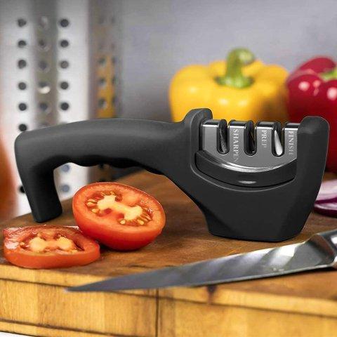 3.4折起 低至€4.04可收Amazon 磨刀神器闪促 适用多种刀具 轻松省力上手超简单