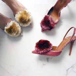 低至3折+额外8折 收封面款Aquazzura 大菠萝经典穆勒鞋、高跟鞋热卖