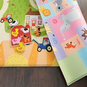 全部7.5折 可折叠桌$29起Baby Care 婴幼儿双面爬行垫、可折叠桌特卖