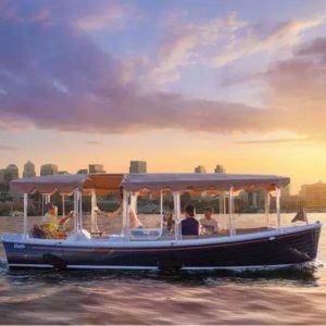 Groupon 西雅图2小时豪华电动游船出租 派对求婚表白皆可
