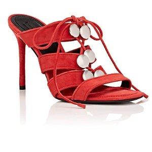 Alexander WangAllegra 麂皮穆勒高跟鞋