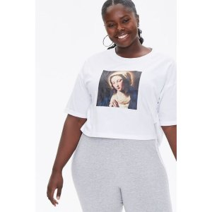 Forever21Plus Size Mother Mary Graphic Tee