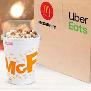 Available Exclusively w/ Uber EatsGet First Taste of McDonald's New Snickerdoodle McFlurry
