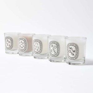 $55(价值$75)Diptyque 香氛蜡烛旅行装5件套