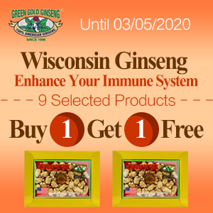 Buy 1 Get 1 Free100% Authentic American Wisconsin Ginseng Special Offer