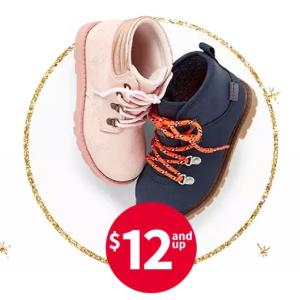 包邮 宝宝鞋$8.8 每满$25再送$10黑五开抢:Carter's官网 儿童鞋履全部$16以下, 原价高达$50