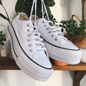 Converse27-38.5码经典白色低帮帆布鞋