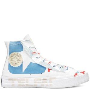 Converse首次降价!x TELFAR Chuck 70联名帆布鞋-蓝白